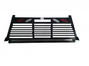 Headache Racks - Roughneck 2 Piece Bolt-on Racks - Roughneck - Roughneck    Bolt On Head -  Full Louver  w/ Lights  (BHRFLWL-GM19B)