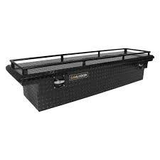 "Tool Boxes - CamLocker Tool Boxes - Cam-Locker - Cam-Locker   71"" Crossover  Box  Low Profile   Matte Black  w/Rail   (TB _S71LP_RLMB)"