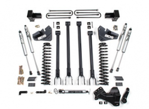 """BDS - BDS  4""""  4-Link Lift Kit   2020+  F350  4WD  DRW GAS or DIESEL    w/ Rear Block  (1565H) - Image 1"""