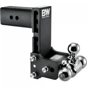 "Towing - B&W - B & W   Tow & Stow  10"" Model  Tri Ball   3"" Hitch  (Class V)   7"" Drop / 7.5"" Rise   Black  (TS30049B)"