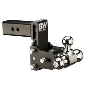 "Towing - B&W - B & W   Tow & Stow  8"" Model   Tri Ball   3"" Hitch   (Class V)   5"" Drop / 5.5"" Rise  Black  (TS30048B)"