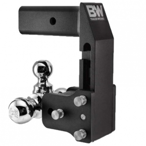 "B&W - B & W   Tow & Stow  for GM Multi-Pro Tailgate   Tri Ball  2"" Hitch  2.5"" Drop / 3.5"" Rise  Black (TS10064BMP)"