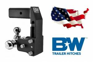 "B&W - B & W   Tow & Stow  for GM Multi-Pro Tailgate  Tri Ball    2.5"" Hitch  7"" Drop/ 7.5"" Rise  Black  (TS20067BMP)"