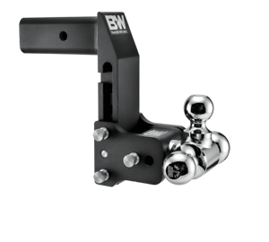 "B&W - B & W   Tow & Stow  for GM Multi-Pro Tailgate  Tri Ball    2.5"" Hitch  7"" Drop/ 7.5"" Rise  Black  (TS20067BMP) - Image 2"