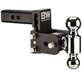"Towing - B&W - B&W   Tow & Stow   Dual Ball   2"" Hitch   3"" Drop, 3.5"" Rise   Black  (TS10035B)"