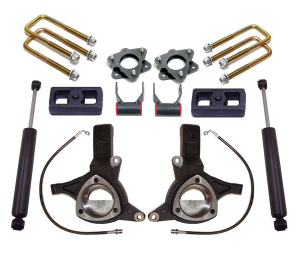 """MAXTRAC - MAXTRAC   2wd Lift Kit w/ Max Trac Shocks - 7""""/4"""" Lift Height 2016-2018 Silverado/Sierra 1500 2015-2020 GM SUV (MAXT-K881774)"""