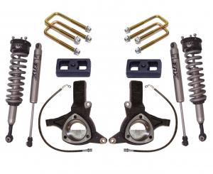 """MAXTRAC - MAXTRAC   2wd Lift Kit w/ Fox Shocks - 5.5""""/3"""" Lift Height 2007-2016 Silverado/Sierra 1500 (MAXT-K881364F)"""