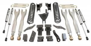 """MAXTRAC - MAXTRAC   4wd Lift Kit w/ 4 Links & Fox Shocks - 4""""/1"""" Lift Height 2017-2020 F250/F350 (MAXT-K943341FL)"""