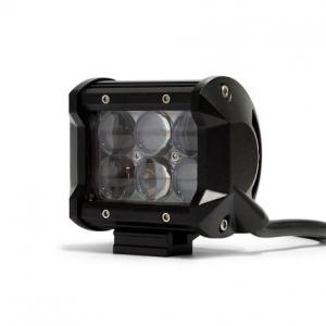 """DV8 - 4""""  LED  Cube  Light  18W Spot   3W Chrome   (B4CE18W3W)"""