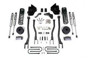 """BDS - 4"""" 4-Link Lift Kit 2013-2018 RAM 3500 4WD w/ Air Ride (1644h)"""