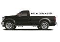 N-FAB Nerf Step 1999-2016 F-250 / F-350 Super Duty Regular Cab 8' Long Bed Gas / Diesel SRW / DRW Gloss Black (F9984RC-4)