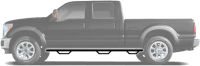 N-FAB Nerf Step 2011-2014  Silverado/Sierra HD Crew Cab 6.5' Bed Gas / Diesel SRW Textured Black (C11105CC-6-TX)