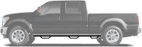 N-FAB Nerf Step 2011-2014  Silverado/Sierra HD Extended Cab 6.5' Bed Gas / Diesel SRW Textured Black (C11100QC-6-TX)